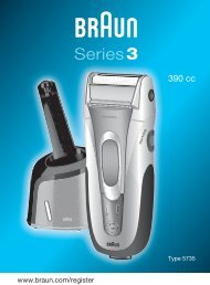 Series3 - Braun Consumer Service spare parts use instructions ...