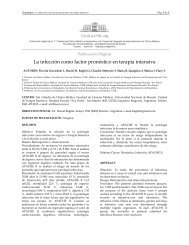 La infección como factor pronóstico en terapia ... - ResearchGate