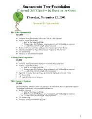 Thursday, November 12, 2009 - Sacramento Tree Foundation