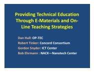 Improving Technician Education through E-materials and Innovative ...