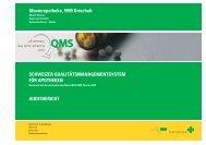 Schweizer QualitätSmanagementSyStem für apotheken