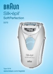 Silk•épil® - Braun Consumer Service spare parts use instructions ...