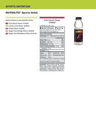 XS Energy Drink Nutritional Info - All