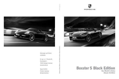 Boxster S Black Edition - Porsche
