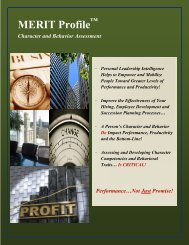MERIT Profile Brochure - Future Achievement International