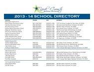 School Directory - York County Schools