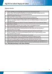 EN 131-3:2007 Tipps für den sicheren Umgang mit Leitern - Iller-Leiter