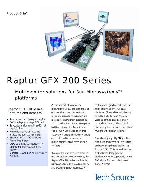 Raptor GFX 240/220 - Tech Source