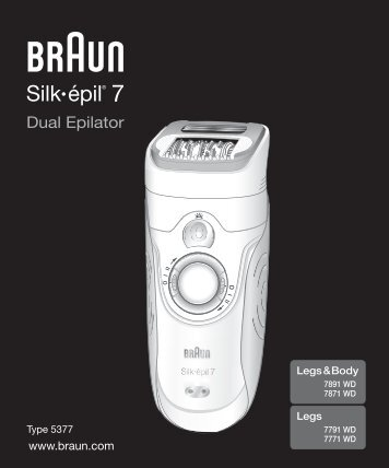 Silk•épil 7 - Braun Consumer Service spare parts use instructions ...