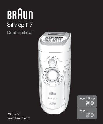 Silk•épil 7 - Braun Consumer Service spare parts use instructions ...