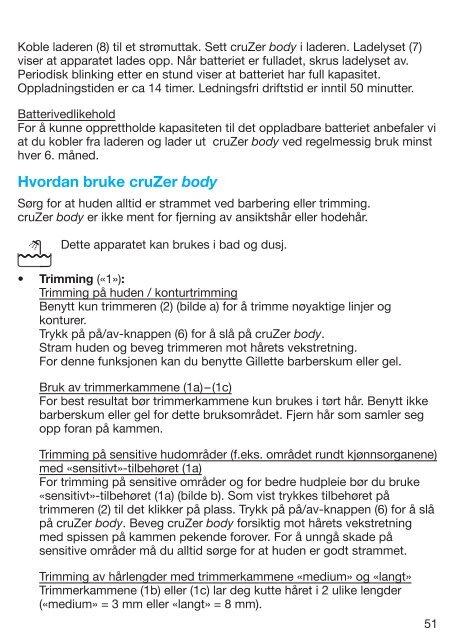 cruZer - Braun Consumer Service spare parts use instructions ...