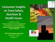 Consumer Perceptions of Perceived Food Safety, Nutrition & Health ...