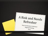 A Risk and Needs Refresher - Texas Juvenile Justice Department ...