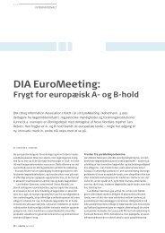 DIA EuroMeeting: Frygt for europæisk A- og B-hold - Pharmadanmark