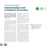 Statistik hjælper med at lokalisere de kreative - Danmarks Statistik