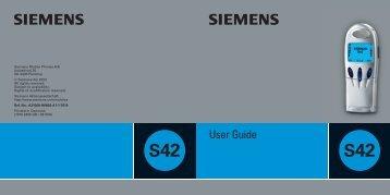 User guide S42 GB - Telekomunikacije