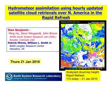 Hydrometeor assimilation using hourly updated ... - Cloud Products
