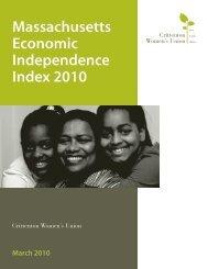 Massachusetts Economic Independence Index 2010 - Crittenton ...