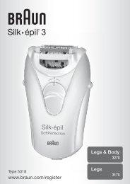 Silk• épil 3® - Braun Consumer Service spare parts use instructions ...