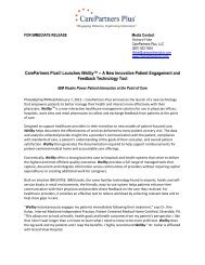 120206 Press Release- IBM-CPP Final.pdf - Schooner HealthCare ...