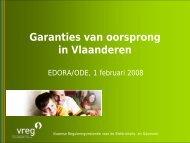 Garanties van oorsprong in Vlaanderen - Edora