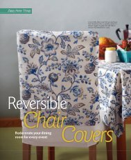 Reversible chair covers - The Taunton Press