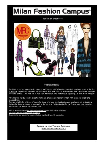 Download Application / Brochure - Fashion School