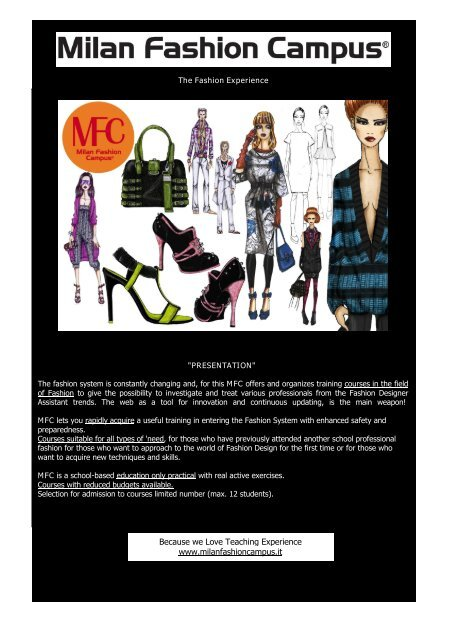 Download Application Brochure Fashion School