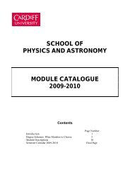 what modules to choose - Cardiff School of Physics and Astronomy ...