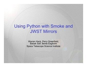 Using Python with JWST Smoke and Mirrors