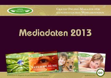 Mediadaten 2013 - GreenBalance