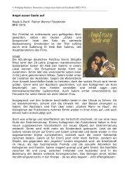 Angst essen Seele auf Regie & Buch: Rainer Werner Fassbinder ...