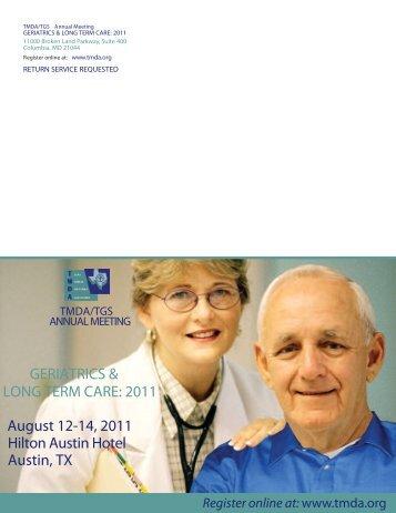 GERIATRICS & LONG TERM CARE: 2011 August 12-14, 2011 ...