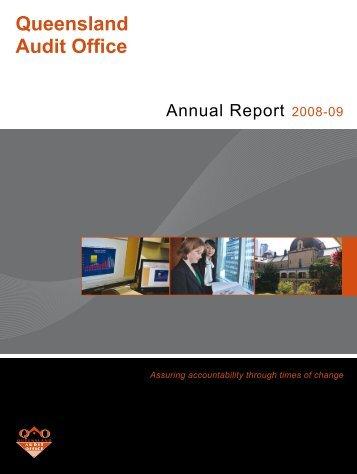 2008-09 - Queensland Audit Office - Queensland Government