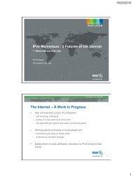 IPv6 Momentum: 3 Futures of the Internet The Internet ... - IPv6.org.au