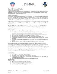 Level III Telemark Tasks (updated Nov - PSIA – NW
