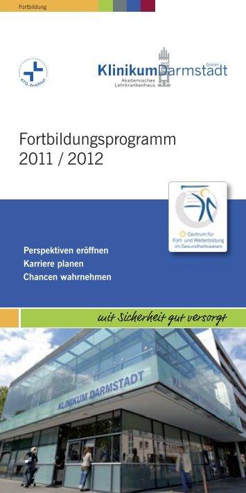 Fortbildungsprogramm 2011 / 2012 - Klinikum Darmstadt