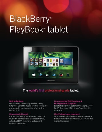 BlackBerry PlayBook PDF - En Pointe Technologies
