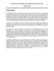 Document de consultation sur la révision de la procédure civile ...