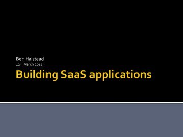 Designing SaaS applications - Brightpearl