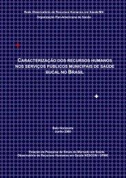 Caracterização dos recursos humanos nos ... - Rede ObservaRH