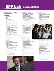 lab rft outline - International Computer Negotiations Inc
