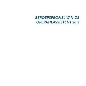 Beroepsprofiel van de operatieassistent 2012 - Landelijke ...