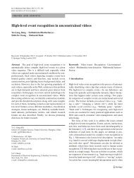 High-level event recognition in unconstrained videos - Columbia ...