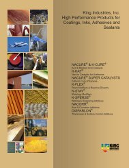 King Industries, Inc. High Performance Products for Coatings, Inks ...