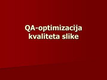 QA - optimizacija kvaliteta slike