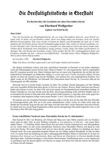 Geschichte der Eberstädter Kirche - Geschichtsverein Eberstadt ...