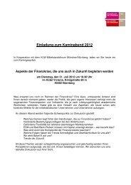 Einladung Kaminabend 2012 - Familienunternehmen