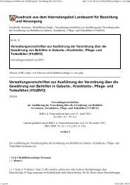 Verwaltungsvorschriften zur BVO (VVzBVO) - Philologen-Verband NW