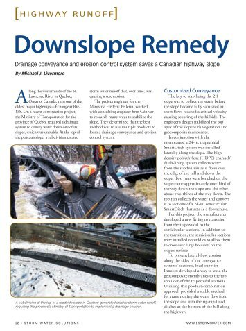 Downslope Remedy - Storm Water Solutions